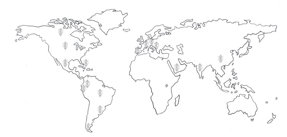 Mapa Giras - Batería Colombiana
